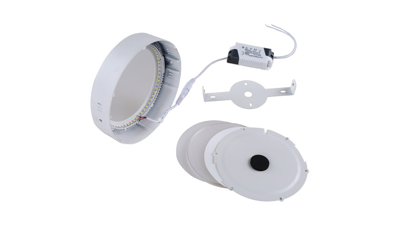 Surface Mounted LED Panel Light Round Φ300mm 24w 2500lm
